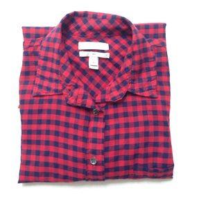"J. Crew ""Boy"" plaid button down shirt"