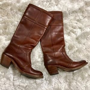 —SOLD—FRYE TALL LEATHER BOOTS (6.5)