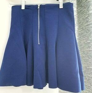 Royal blue mini skater skirt
