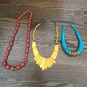 Trio of statement necklaces! J Crew and Anthro