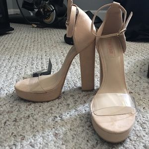 BRAND NEW forever 21 nude pumps!!!