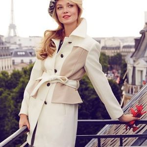 Anthropologie Elevenses Colette Trench Wool Coat 2