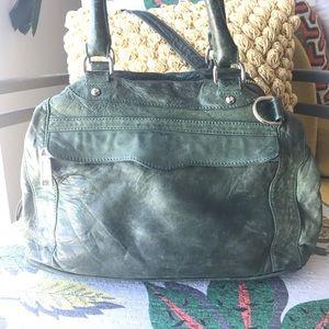 Rebecca Minkoff MAB mini satchel green + silver
