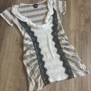 DAYTRIP Scoop Neck Blouse Top Shirt