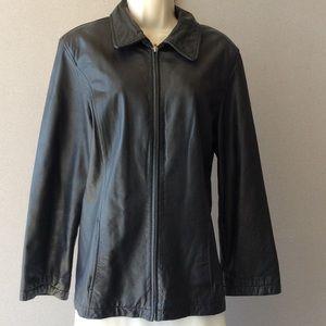 1fdfcda00 Outbrook black leather jacket. NWOT.