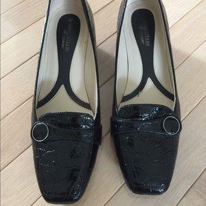 Naturalizer Black Patent Crocodile Shoes