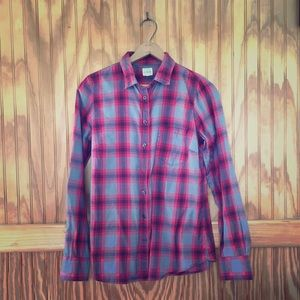 J. Crew The Perfect Shirt Red and grey plaid