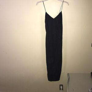 Super sexy tight black suede dress 👠