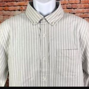 Five Four Striped Grey long-sleeve button down
