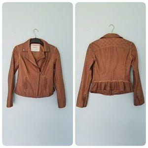 Anthropology Fayette vegan leather jacket