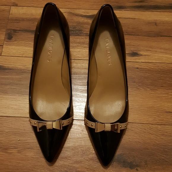 109b2b2600cde Talbots Shoes   Black Patent Leather Kitten Heels Nwot   Poshmark