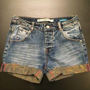 Zara Trafaluc denim bermuda shorts
