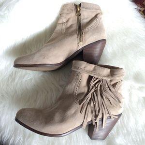 San Edelman Louie Ankle Boots Booties Suede Sz 10