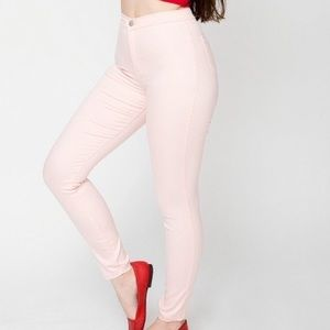 American apparel light pink easy jeans