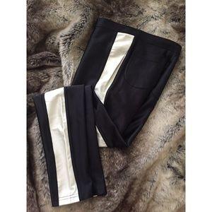American Apparel Disco Pants Small - Black & Pearl