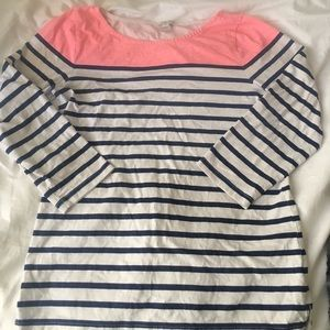 Lovely Jcrew coral and navy stripped shirt!