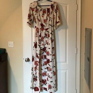 Never Worn Floral Romper Dress!