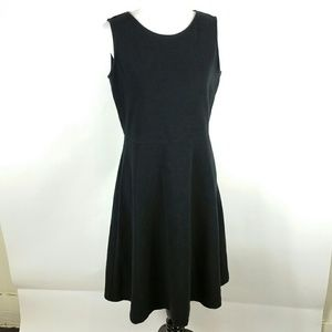Talbots size Large Black fit and flare dress