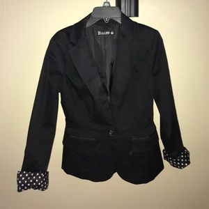 Business or casual black blazer