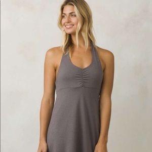 Prana NWT Grey Halter Top Beachside Dress XS