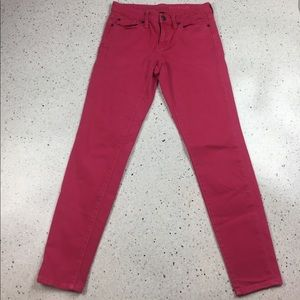 Gap Super Skinny Ankle Jeans, Pink, size 1