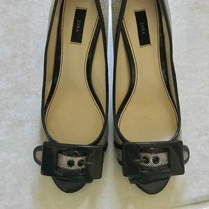 Zara brown high heels