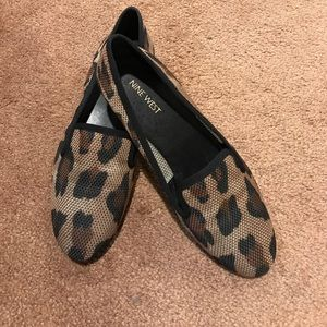 Nine West Lava Leopard mesh smoking flats loafers