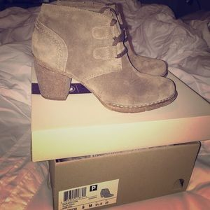 Gorgeous suede high heel boots