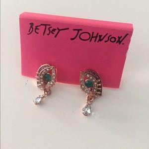 NWT BETSEY JOHNSON eye earrings