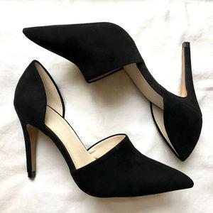 Zara Basic Suede VD'orsay High Heels Size 6 - NWOT