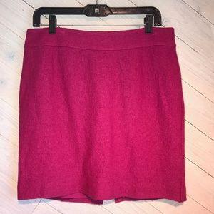 Banana Republic  Magenta Wool Skirt.