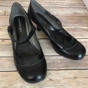 Madden Girl Black Kitten Heel Mary Janes