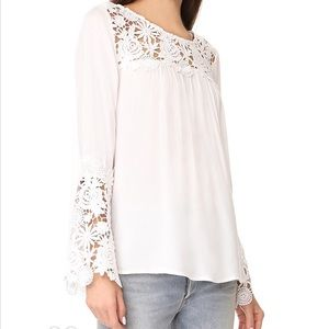 NWOT BB Dakota Zanna Lace Bell Sleeve Top Size S