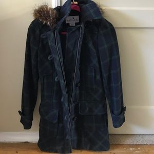 Plaid Winter coat