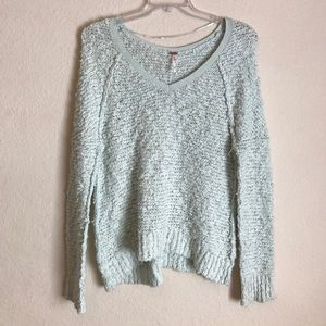 FREE PEOPLE Teal Pretty Sweater Size XS