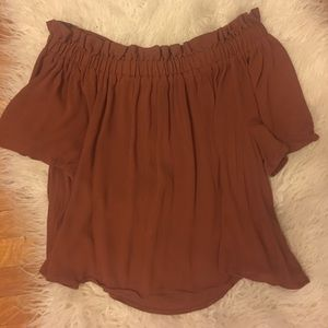 BP size M burnt orange off the shoulder