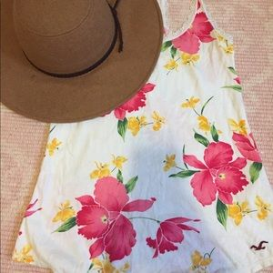 Hollister co flowered tank top.