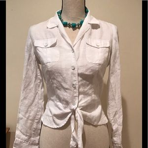 Gorgeous white linen top