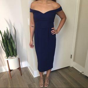 Asos Bardot off shoulder dress