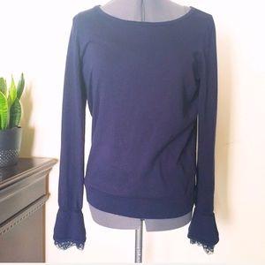 Ralph Lauren lace cuff sweater