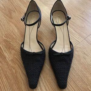 Kate Spade Brown Pointy Toe Kitten Heel Pumps Shoe