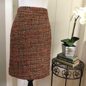 """J CREW Nubby Brown Tweed """"The Pencil Skirt"""""""