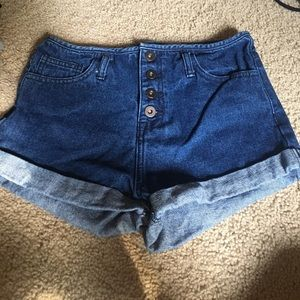 High wasted shorts