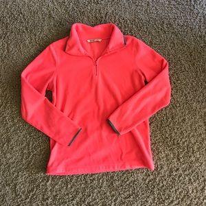 Fleece quarter zip sweatshirt