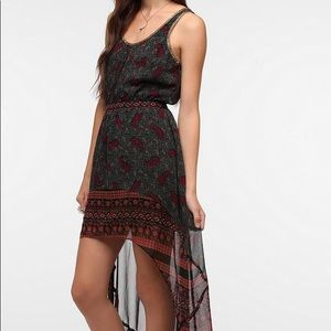 UO paisley dress with neck detail
