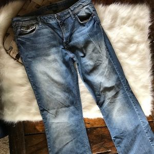 Banana Republic Blue Jeans Size 12L Boot Cut
