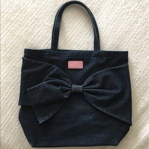 Kate Spade Demin Bag with Bow and Pink Detail