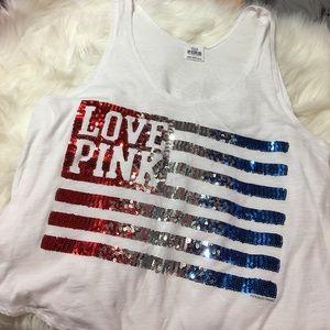 VS Pink American Flag tank