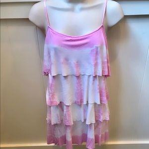 Victoria Secrets Pink layered the dye top. Sz S