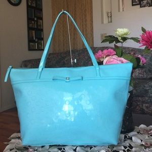 Kate spade patent leather large tote